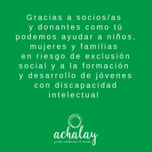 Gracias por tu apoyo - Asociación Achalay
